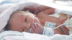 NICU preemie with tubes